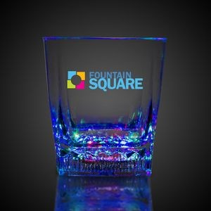 10 Oz. Square Bottom LED Glass